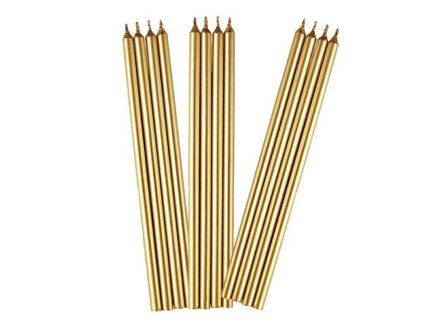 Dlhé narodeninové sviečky zlaté - Wilton