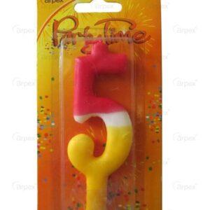 Farebná sviečka číslo 5 - Arpex
