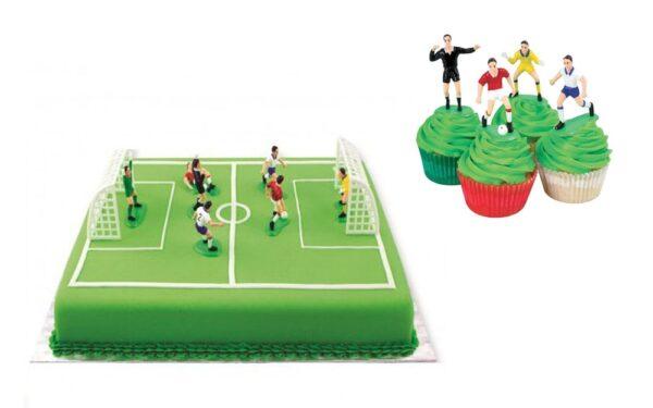 Figúrky na tortu - Futbal 9 ks -