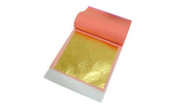 Jedlé zlato - fólia transfer 8x8 cm 25 ks -
