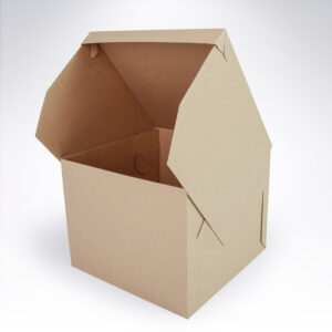 Krabica na tortu so zásuvným vekom 250x250x200 hnedá