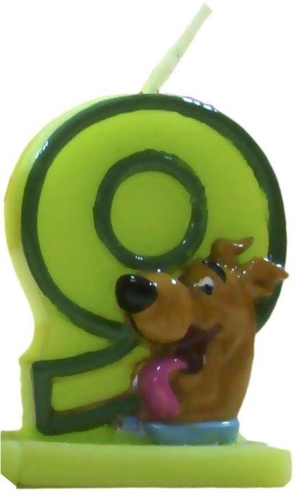 Narodeninová sviečka na tortu Scooby Doo - číslo 9 - Arpex