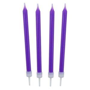 Narodeninové sviečky 8,6 cm 10 ks fialové - GoDan