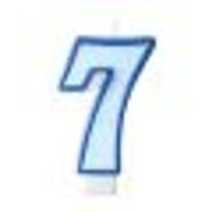 Narozeninová svíčka 7, modrá, 7 cm - PartyDeco