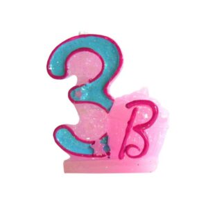 Narozeninová svíčka Barbie číslo 3 - Arpex