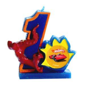 Narozeninová svíčka Hot Wheels číslo 1 - Arpex
