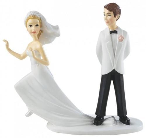 Nevesta na úteku - svadobné figúrky na tortu - Wilton