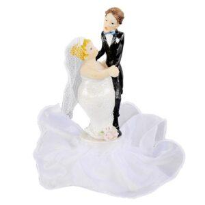 Novomanželia 17 cm - svadobné figúrky na tortu - Modecor