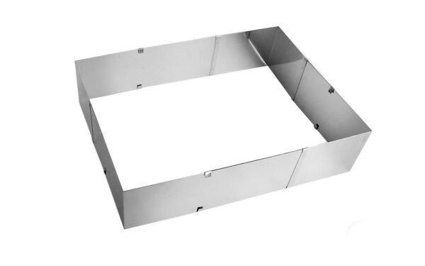 Posuvná tortová forma nastaviteľná štvorec / obdĺžnik až 38 x 46 cm - ORION