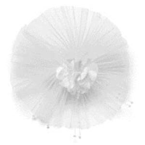 Rozeta biela s perličkami -