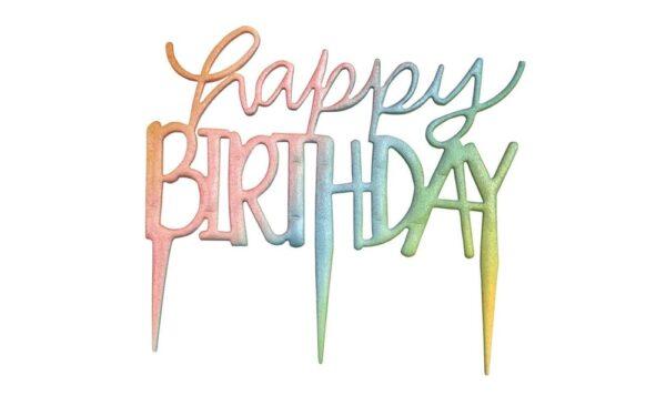 Šablóna na zápich Happy Birthday - PME