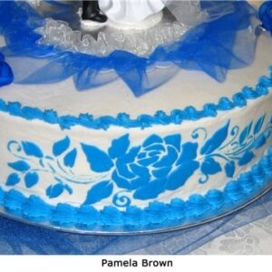 Stencil - Rose Cake 2 -