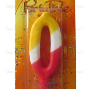 Sviečka farebná číslo 0 - Arpex