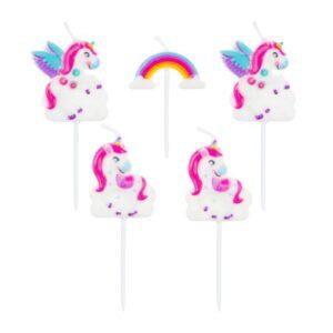 Sviečky Jednorožec - Unicorn 5 ks - GoDan