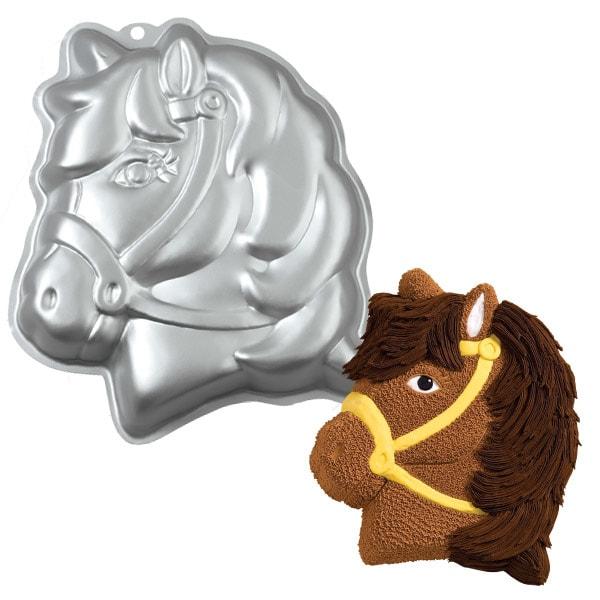 Tortová forma Hlava poníka 3D - Wilton