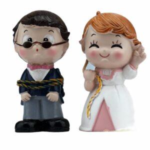 Zviazaný ženích 7cm - svadobné figúrky na tortu -